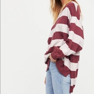 Free People Surfin' On Your Stripes Sweatshirt